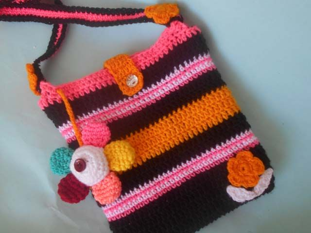 Ccrochet   Crosia Small Cute Girl Purse Free pattern Design with Pictures  Tutorial by Crochetcrosiahome beb159488bba8