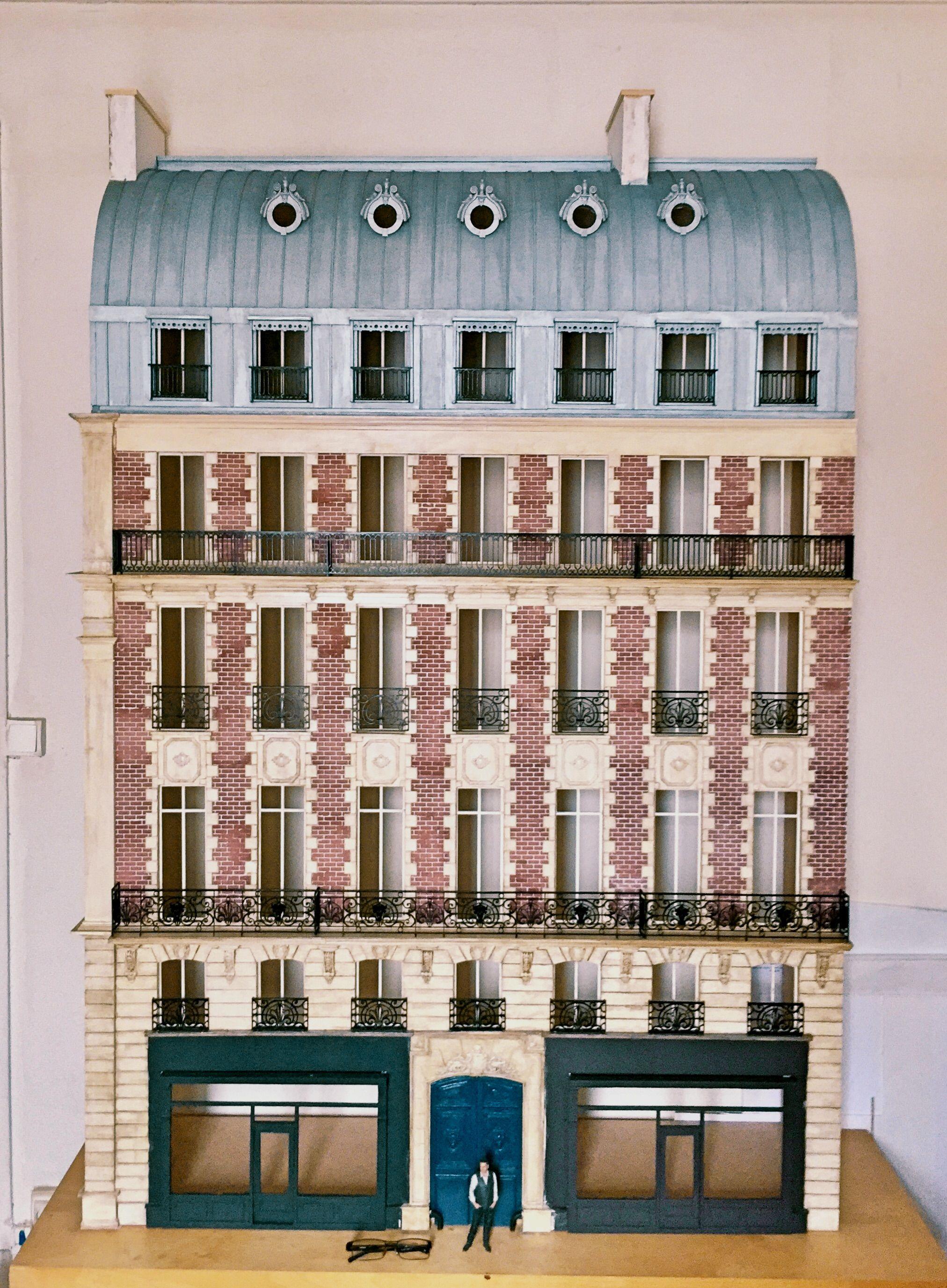 Immeuble Haussmannien Miniature Maison De Poup Es Echelle 112 Me
