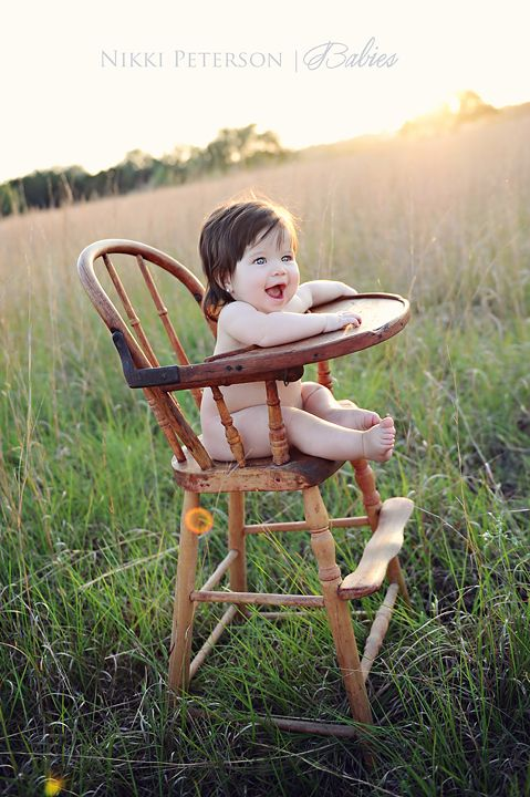6 Month Baby in the Antique High Chair   Nikki Peterson ...