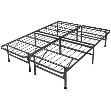 spa sensations steel smart base bed frame black multiple sizes walmart com