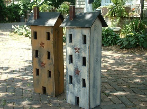Primitive Salt Box House primitive-decor-and-folk-art