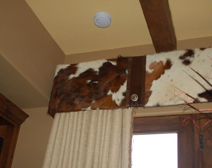 Cowhide Window Valance A Western Rustic Home In 2019