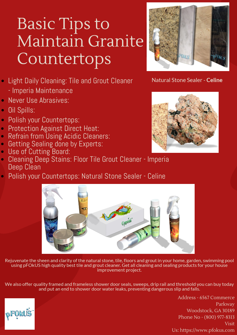 Basic Tips To Maintain Granite Countertops Granite Countertops