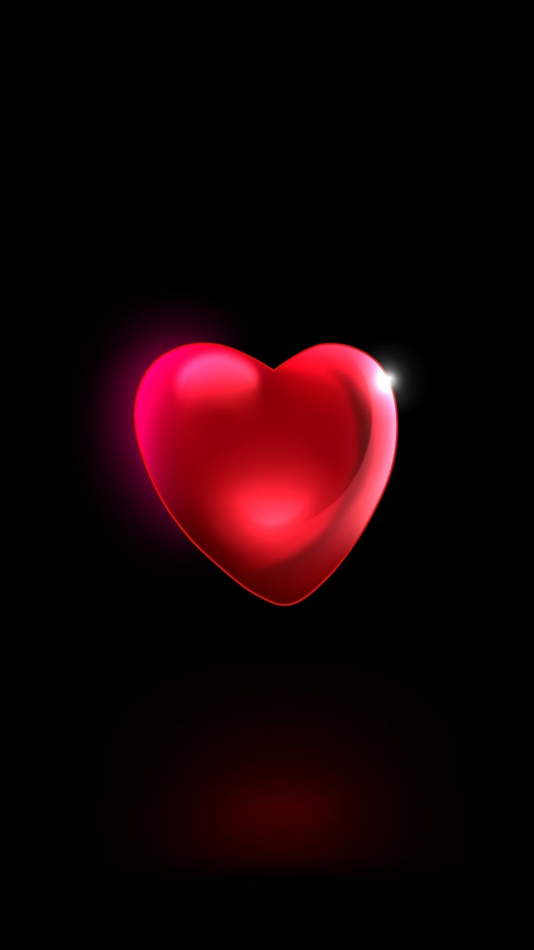 Minimal Red Heart 3d 1080x1920 Wallpaper Iphone Wallpaper