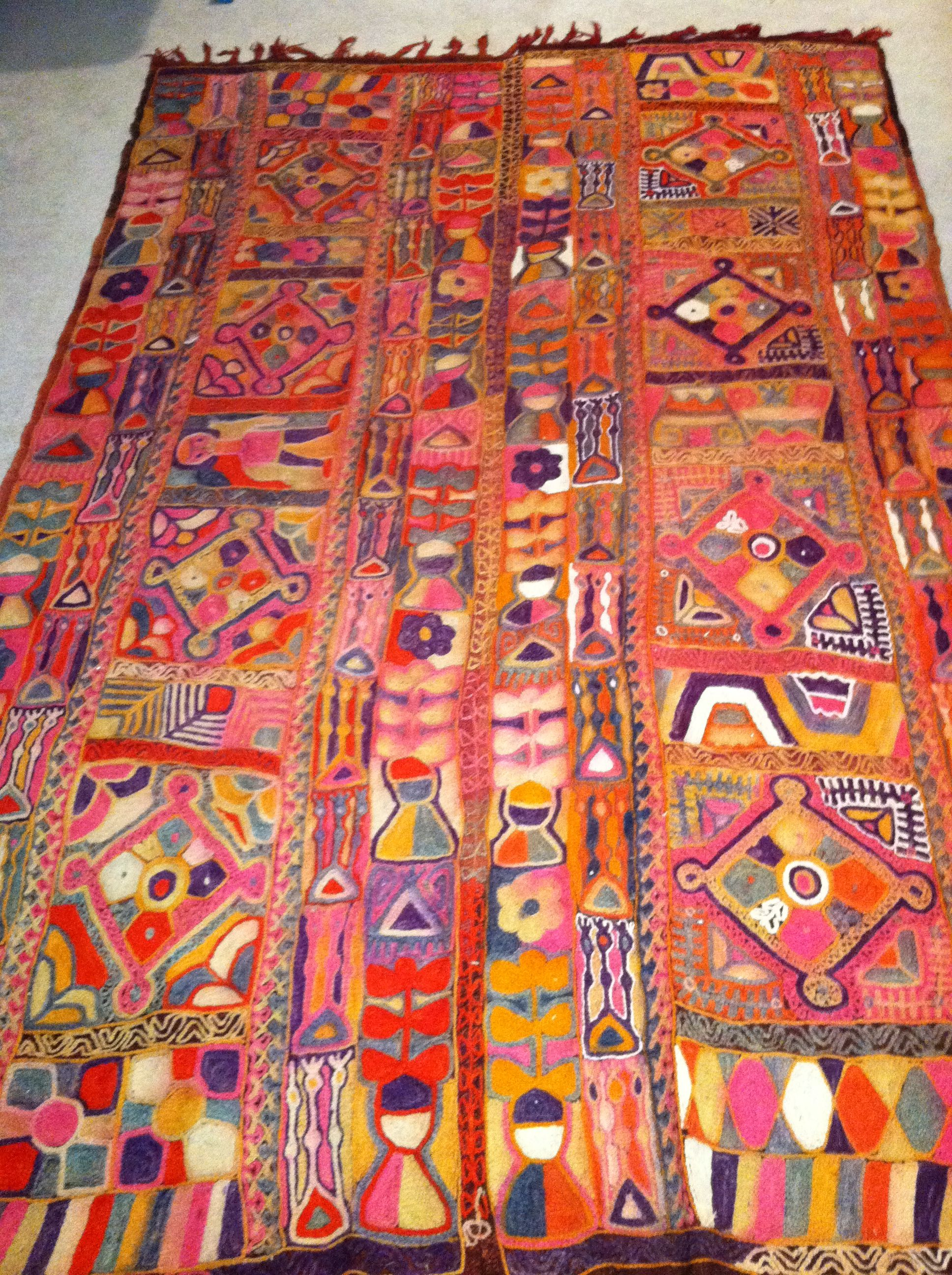 1960s Vintage Samawah Iraq tribal rug Kilim and Rugs