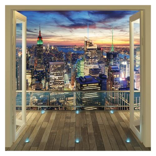 Walltastic New York City Skyline Wall Mural Multi Fotobehang Beschilderde Muur New York Skyline