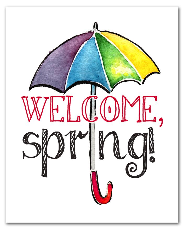 Email Exclusive Spring Umbrella Spring Free Printables
