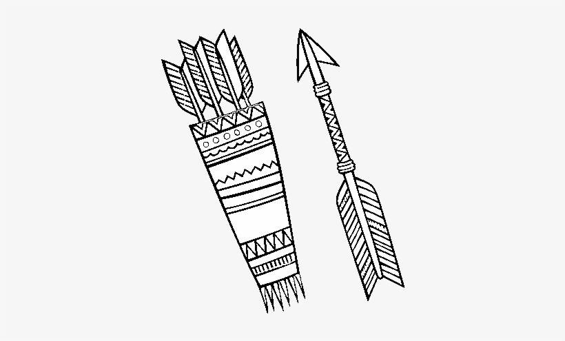 Dibujo De Flechas Indias Para Colorear Arco E Flecha Indigena