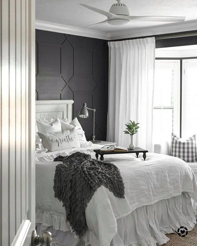 Layer Up Textures And Prints To Add Interest Your Grayscale Bedroom Setup A La
