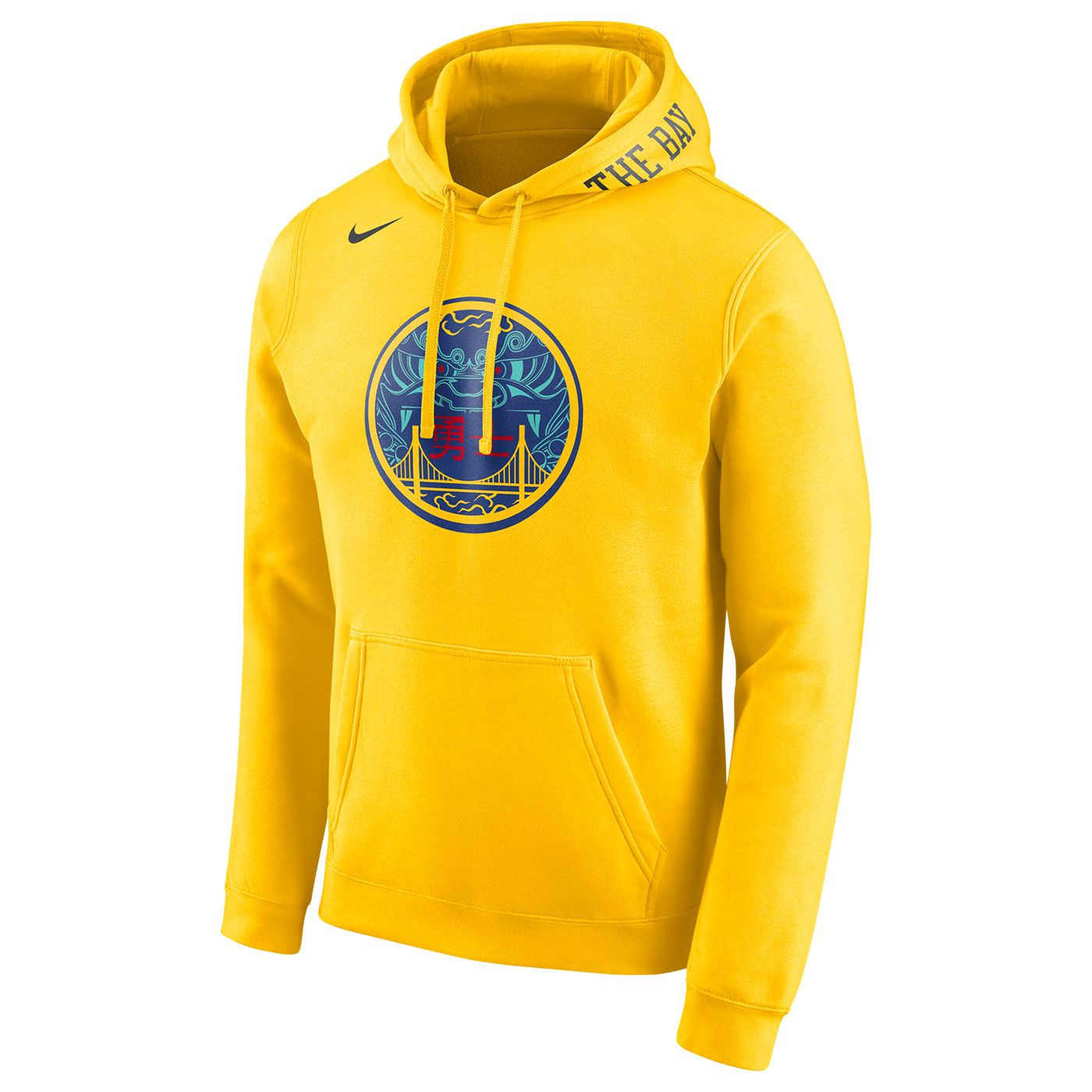 Golden State Warriors Nike Men s City Edition  The Bay  Chinese Heritage  Pullover Club Hoodie - Gold 3a5b530b0