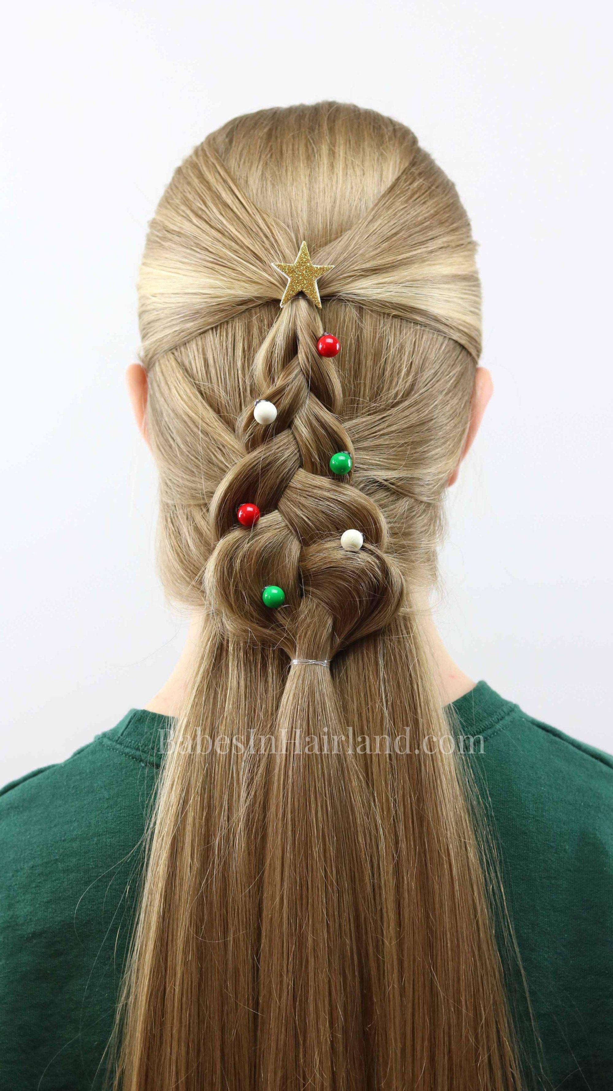 Mermaid braid christmas tree hairstyle haircut pinterest