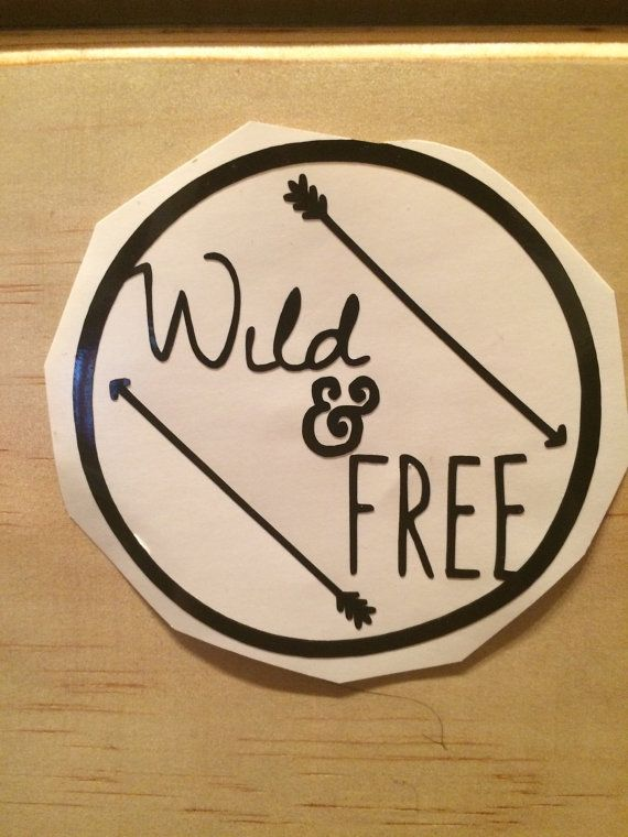 Wild and free vinyl decal vinyl stickers laptop decal car sticker anchor laptop sticker car decal quote sticker