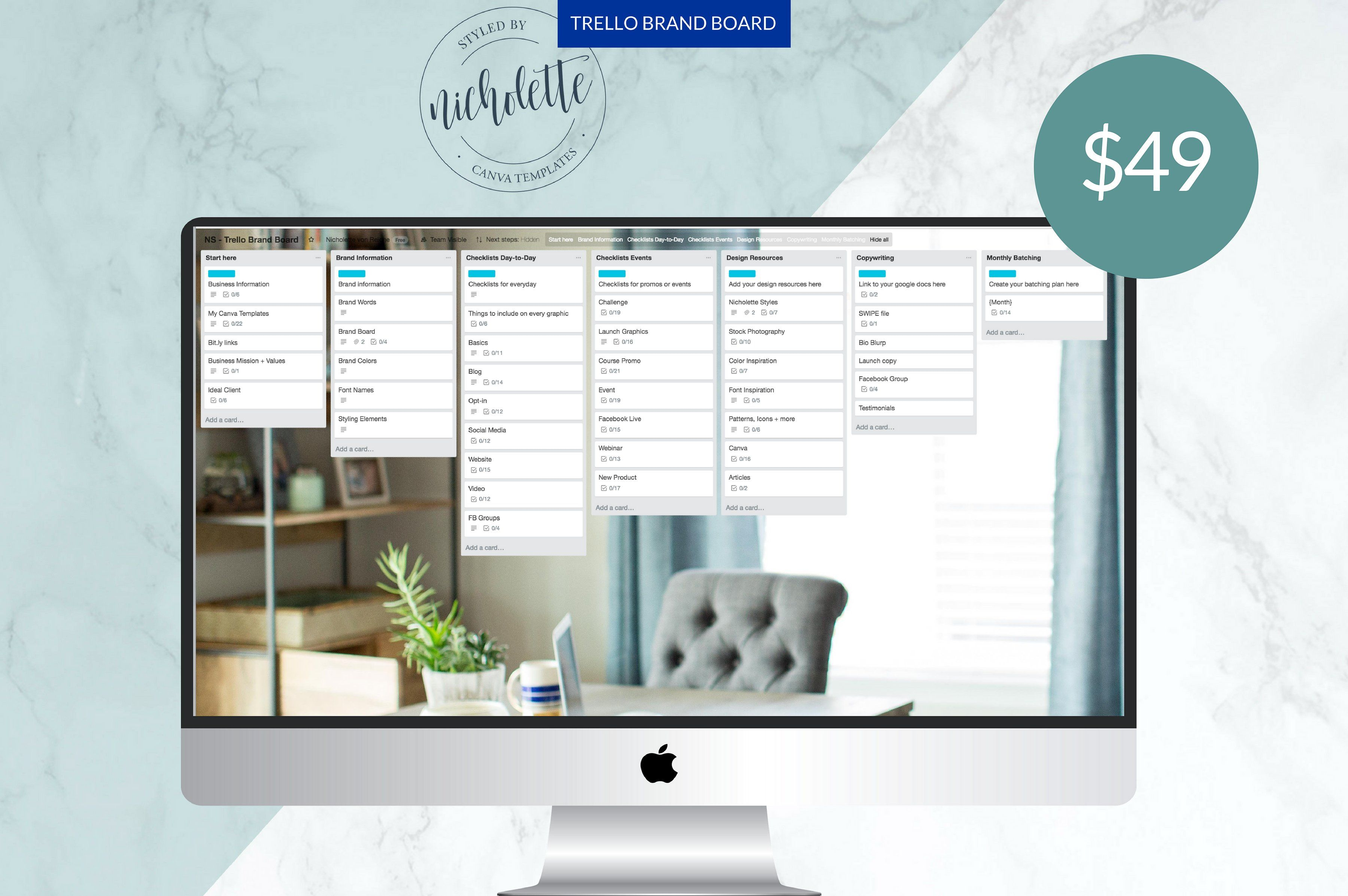 Trello Brand Board Tool Organizational Teaching Designed With