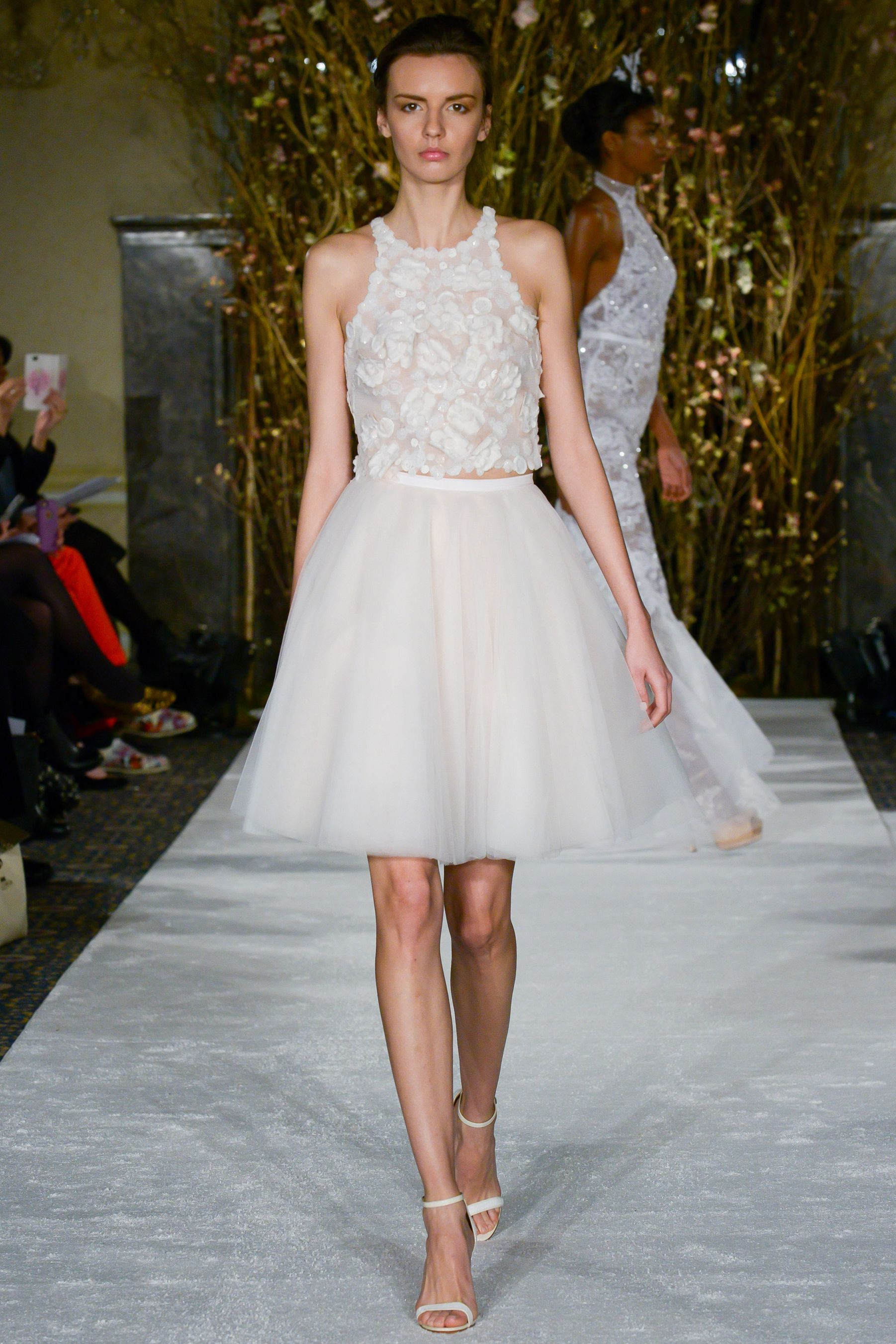 The best short wedding dresses from fall bridal week hemline