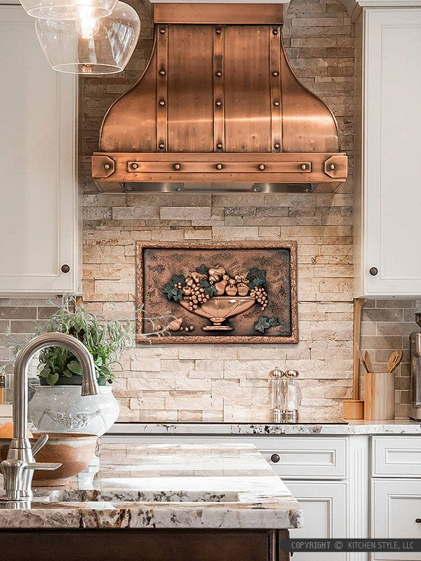 Copper Backsplash Medallion | kitchen backsplash | Pinterest ...