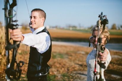 If he likes to hunt, this would be a cute picture. :)