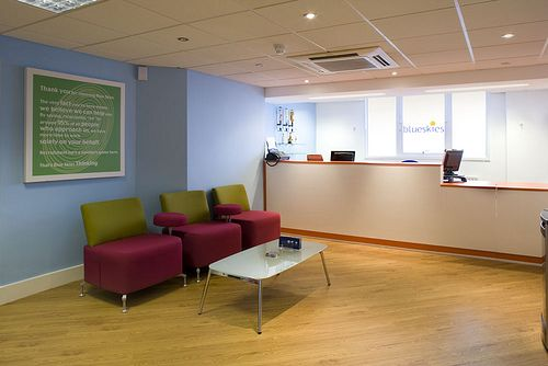 office reception areas. office reception. glass upon the higher portion of desk to ceiling. reception areas d