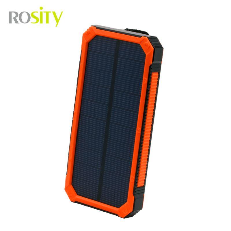Rosity 새로운 20000 미리암페르하우어 태양 전원 은행 Bateria의 실외 태양 충전기