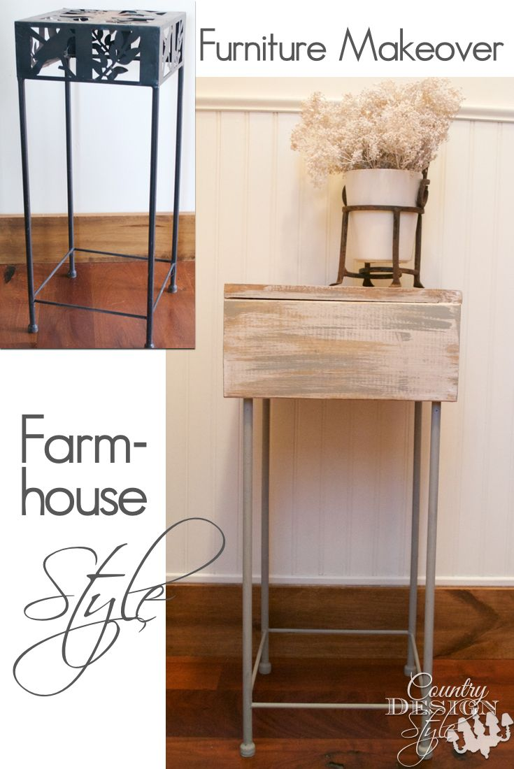 farmhouse furniture style. Furniture Makeover Farmhouse Style Before And After Makeover. Covering The Outdated Top With A Rustic Wooden Box. Easy DIY Project Aged Wood F