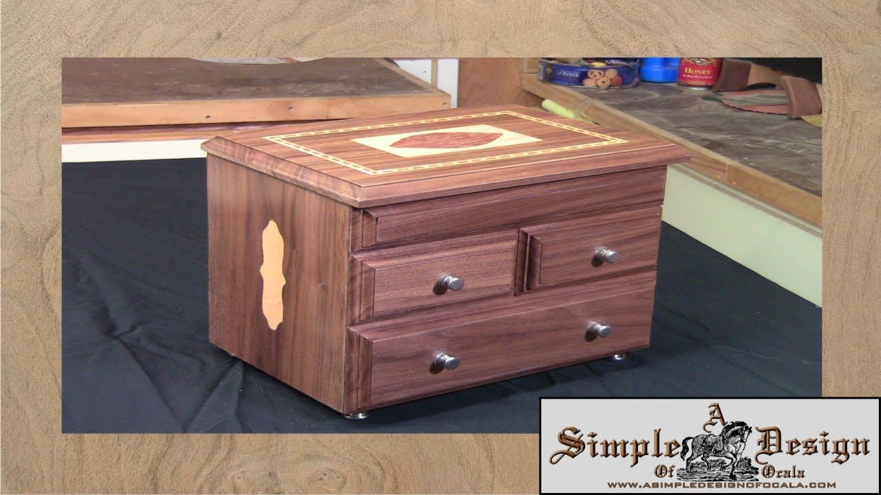 Making an Inlay Jewelry Box Part 1 Woodworking Pinterest Box