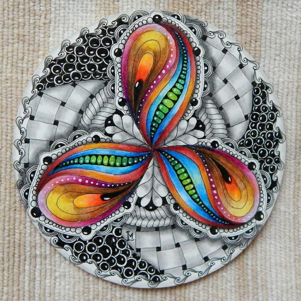 Pin von To TheLimit auf zentangle - colored | Pinterest | Zentangle ...