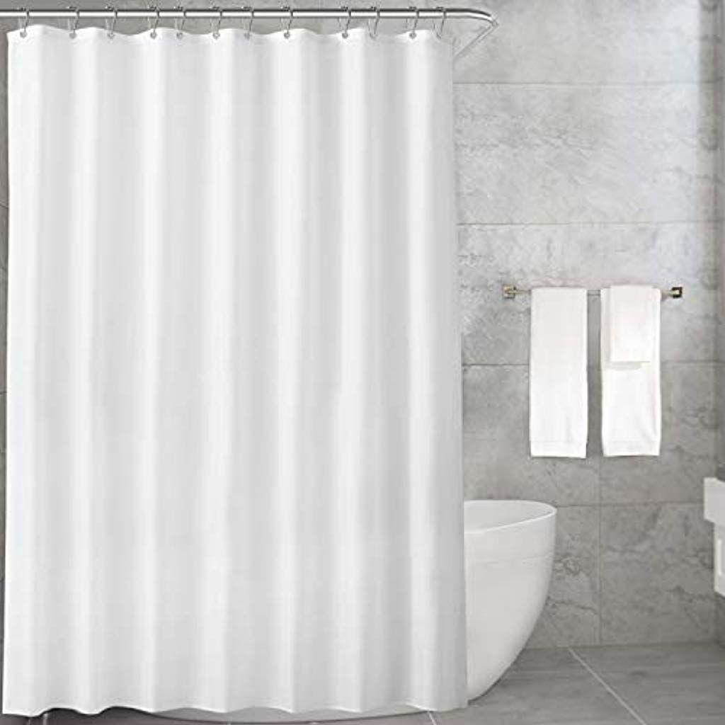 Carttiya Duschvorhang Textil Anti Schimmel Wasserdichter Waschbar Stoff Polyester Badewanne Vorhang Mit 12 Dusch Fabric Shower Curtains Shower Curtain Curtains