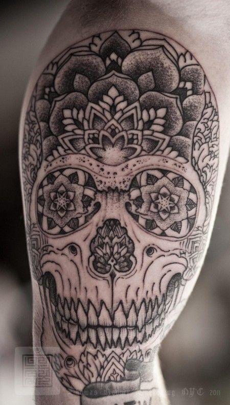 43fca48c0ad0c Lovely.. Thomas Hooper #skull #tattoo | Tatts | Mandala tattoo ...