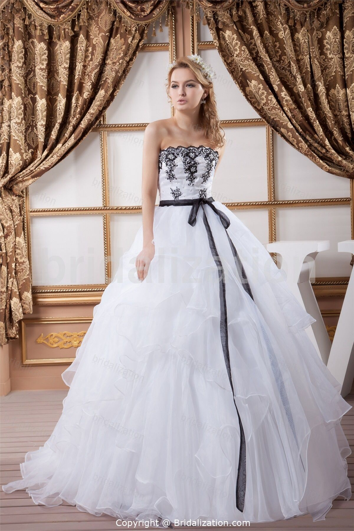 Strapless ball gown wedding dresses  Cool nontraditional  Someday  Pinterest