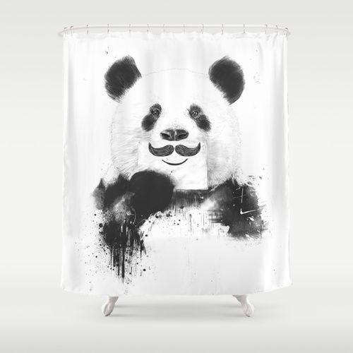 Funny Panda Shower Curtain With Images Panda Art Art