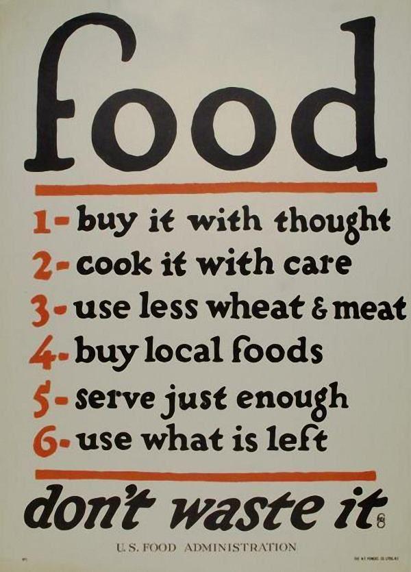 Wall art. Save kitchen waste WW2 public information poster