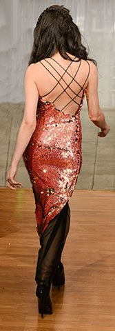 Gown By: #MischkaVelasco #sequins #Prom #Fall2014 #Runway #Couture #NYFW #Model #EveningGown #Beautiful #Sexy #Chic #Fashion