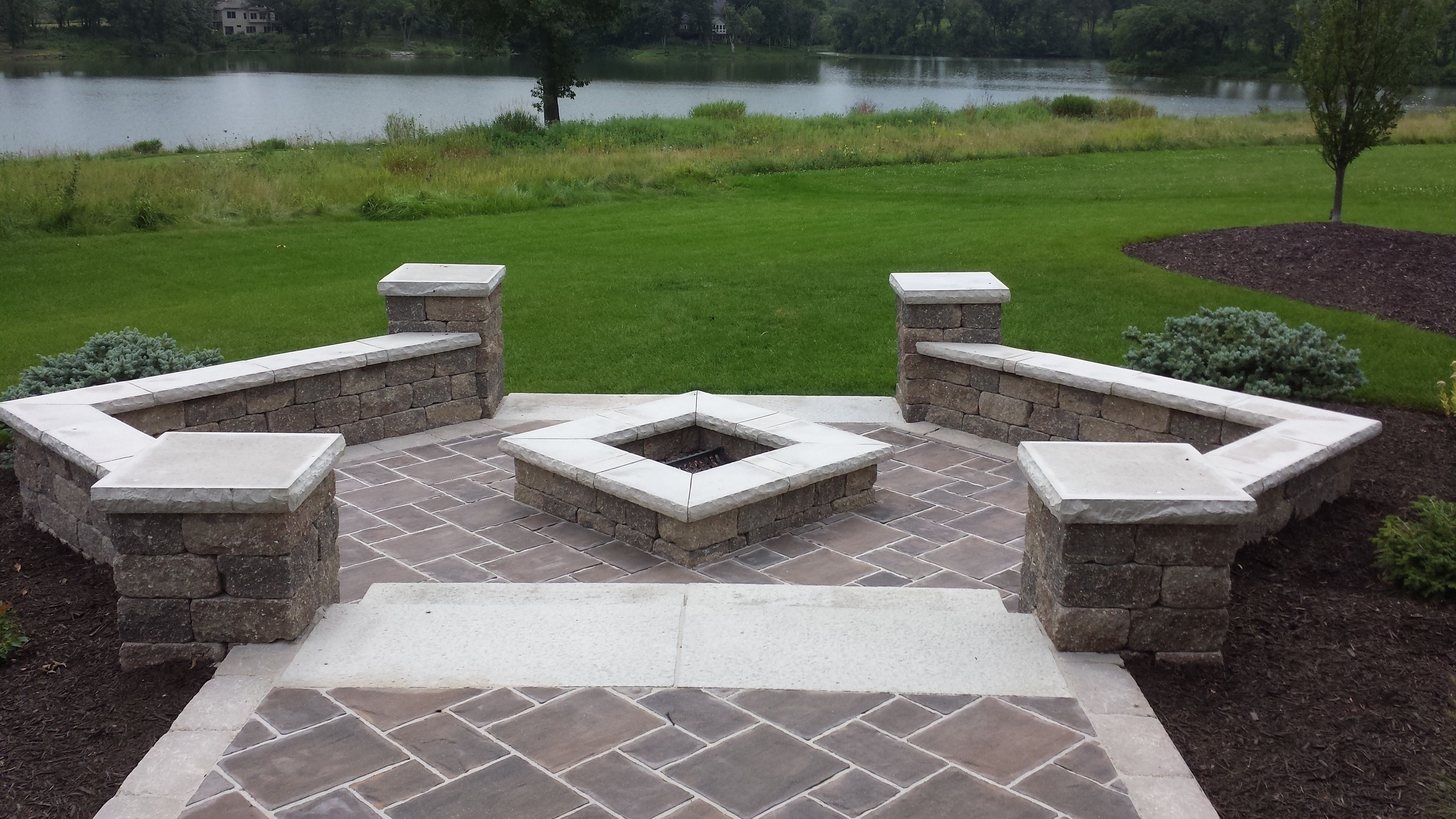 fire pit brick columns fire pit brick patio view out your