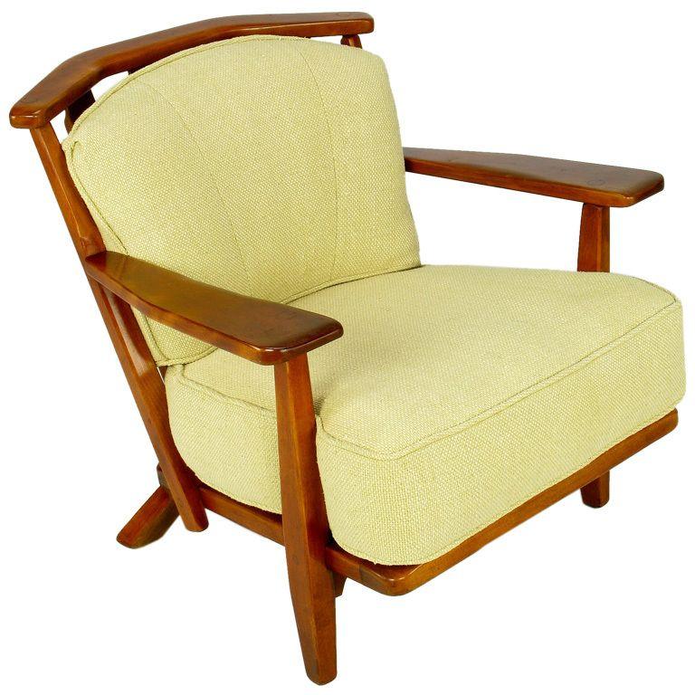 Cushman Colonial Red Rock Maple Club Chair Colonial Maple - Club chairs furniture