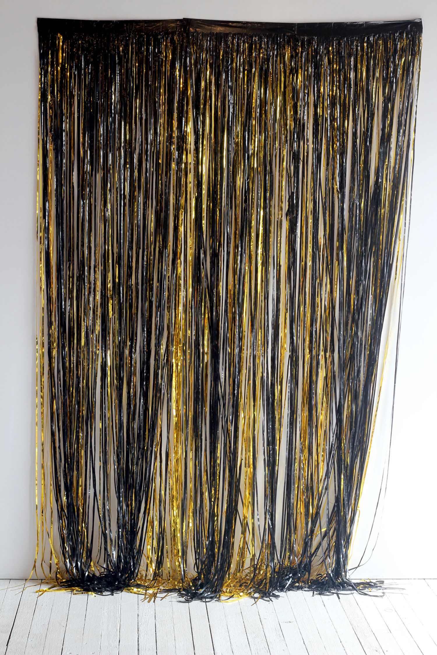 Black Fringe Curtain Burlesque Party Decorations Gatsby Themed