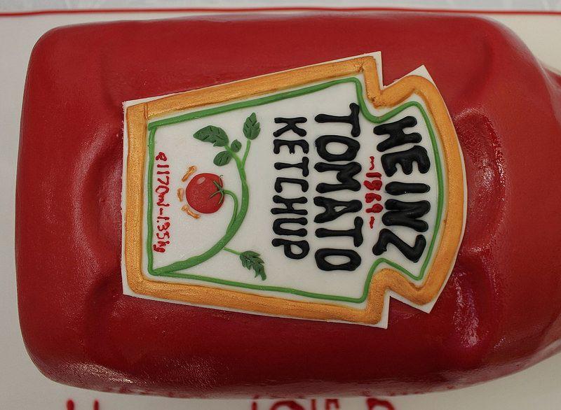 Giant Tomato Ketchup Bottle Birthday Cake Ketchup Bottles