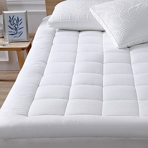 Mattress Pad Cover Cotton Top With Stretches To 18 Deep Pocket Fits