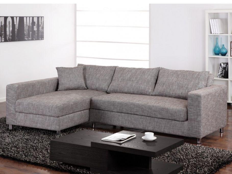 Kauf Unique canapé d angle convertible tissu demetrion taupe angle gauche