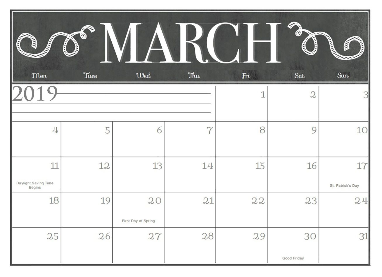 March Desk Amp Wall Calendar Designs