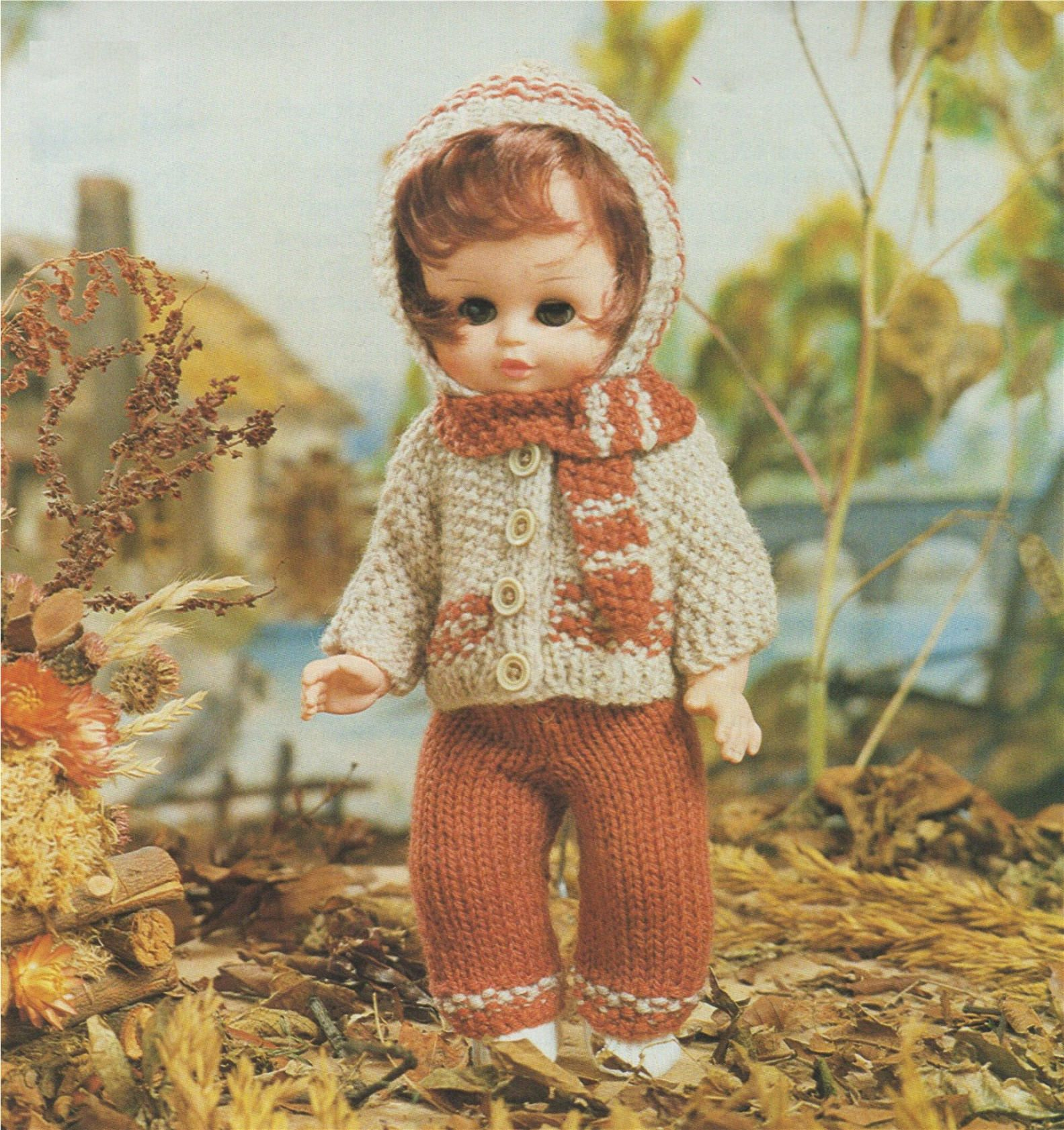09005045d0c6 Dolls Clothes Knitting Pattern PDF for 9 - 10