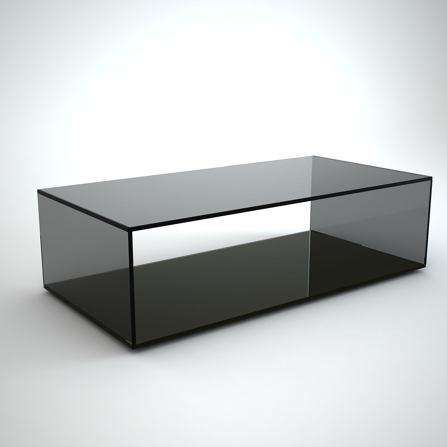 Quebec Rectangular Grey Tint Gl Coffee Table By Klarity