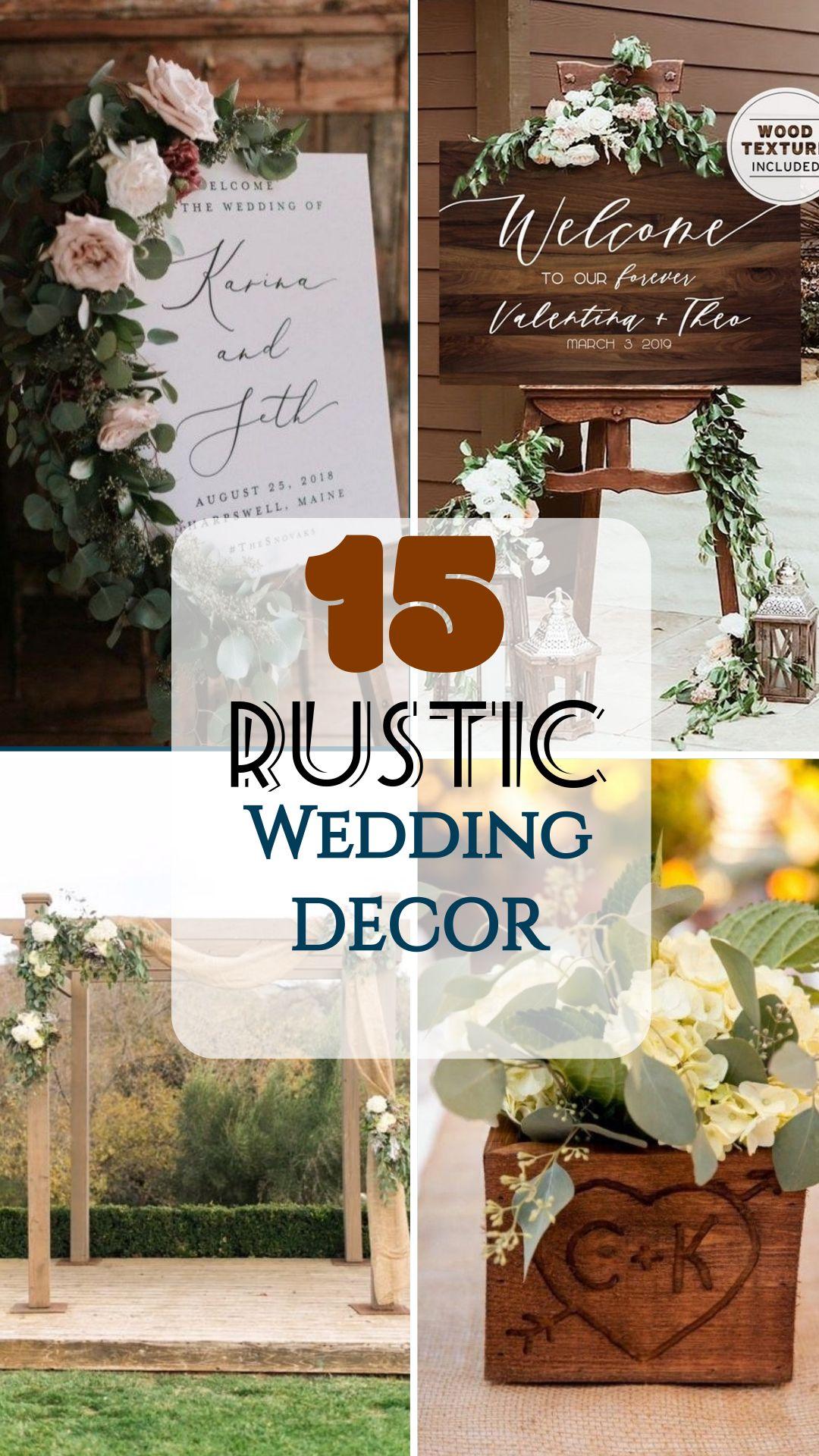 Rustic Wedding Decoration #weddingdecor
