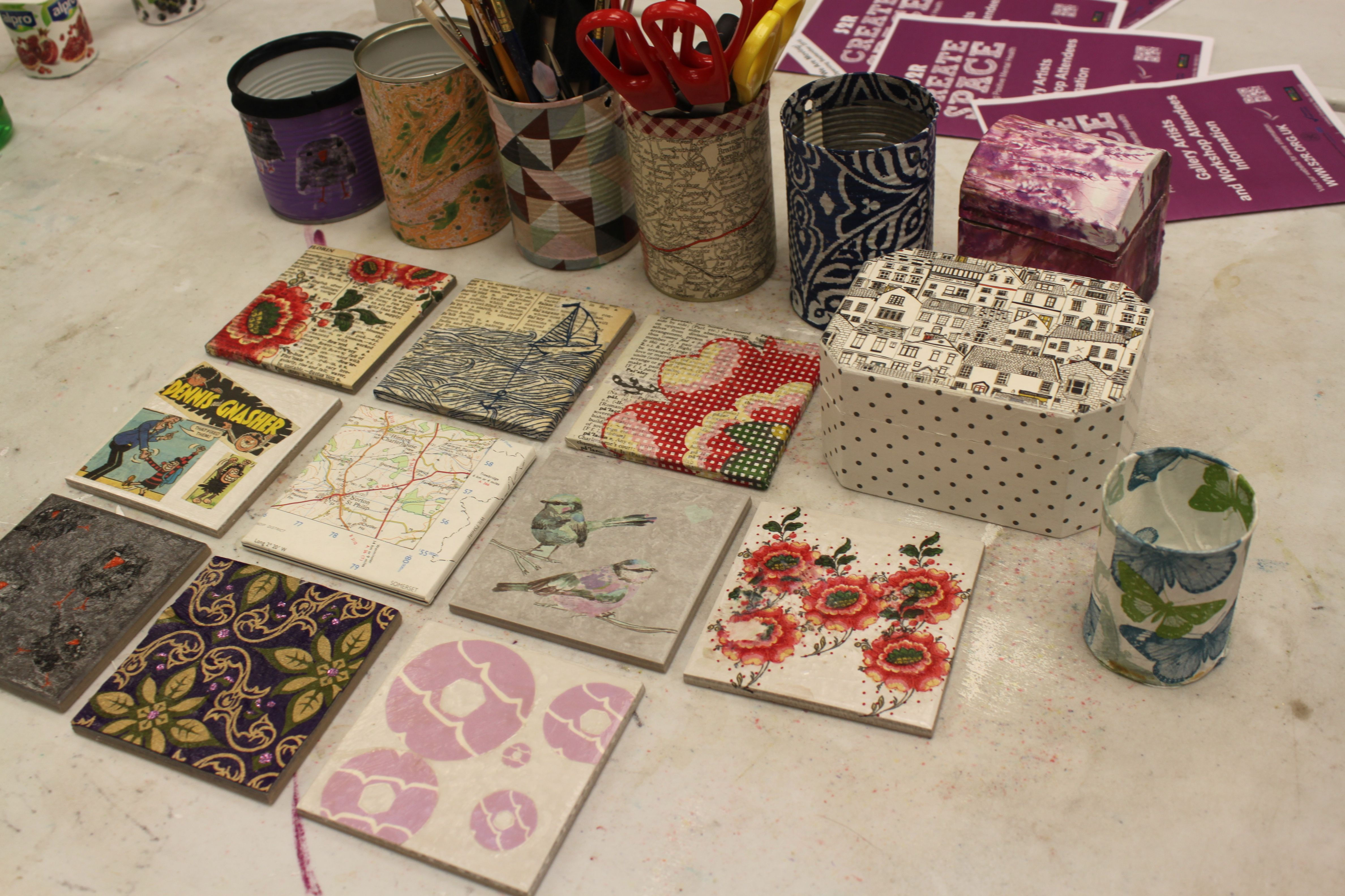 Decoupage examples at S2R, Huddersfield