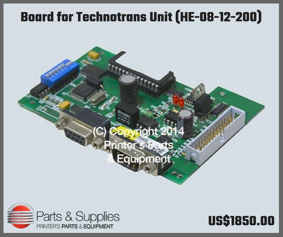 Board for Technotrans Unit (HE-08-12-200) | Heidelberg Parts