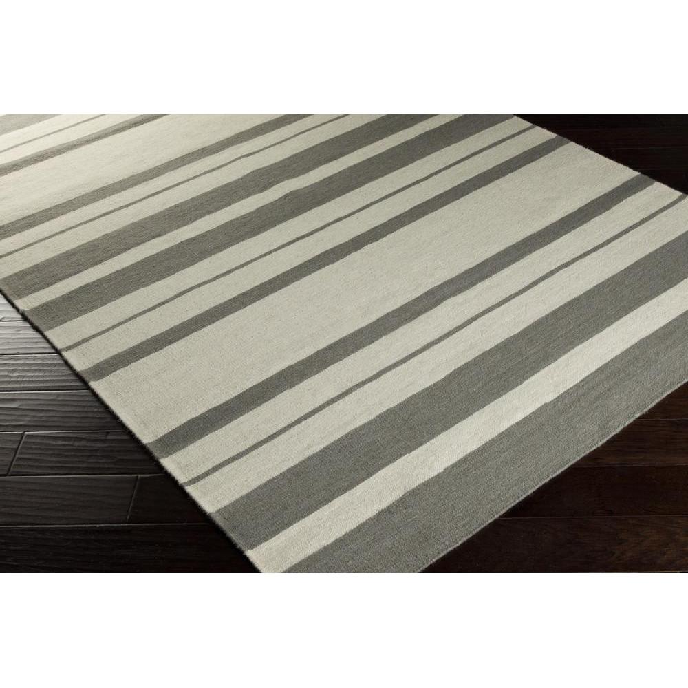 Frontier Area Rug Off White Stripes Rugs Hand Woven Style