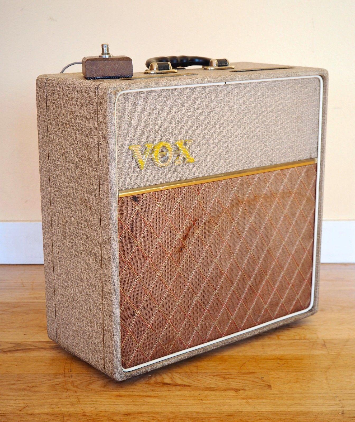 Details about 1962 Vox AC4 Vintage Class A Tube Amplifier Fawn JMI