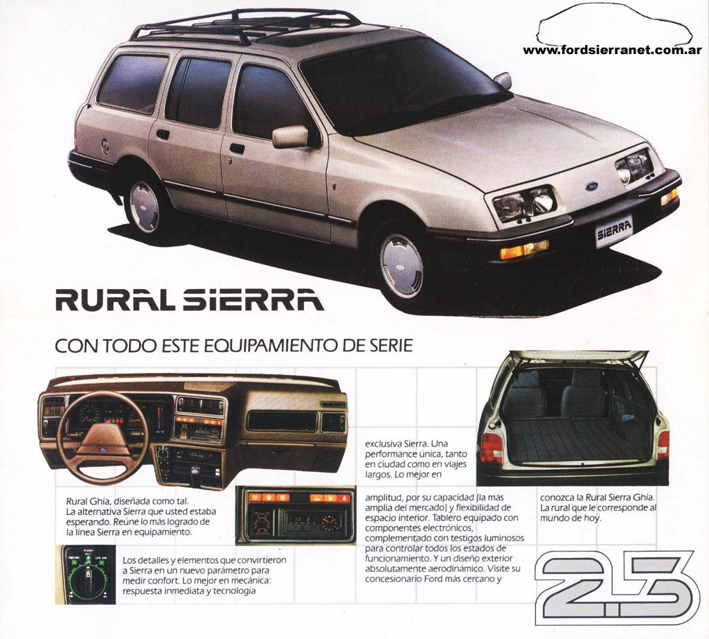 Ford Sierra Rural Ghia 2 3 1985 Ford Sierra Mid Size Car Classic Cars