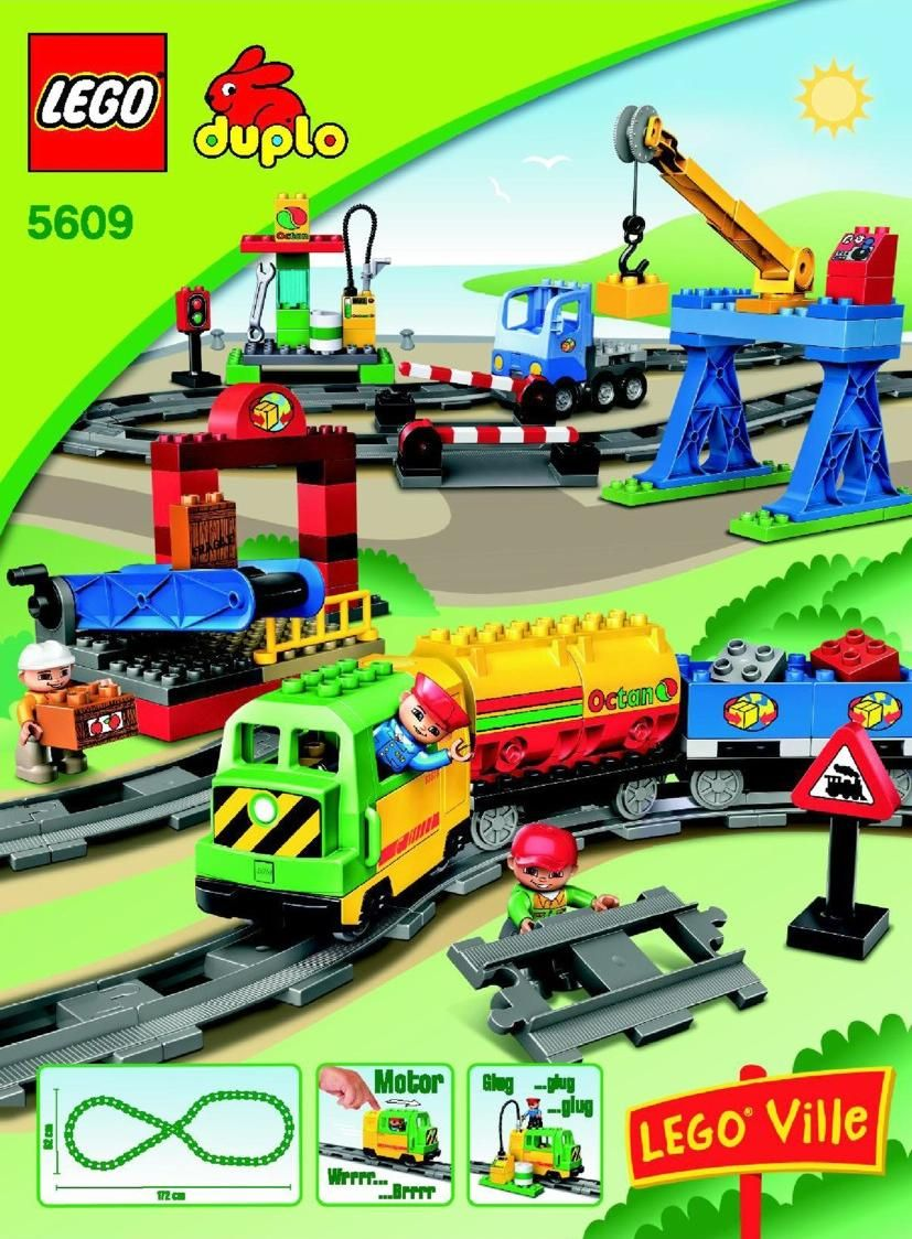 Duplo Deluxe Train Set Lego 5609 Lego Instructions Pinterest