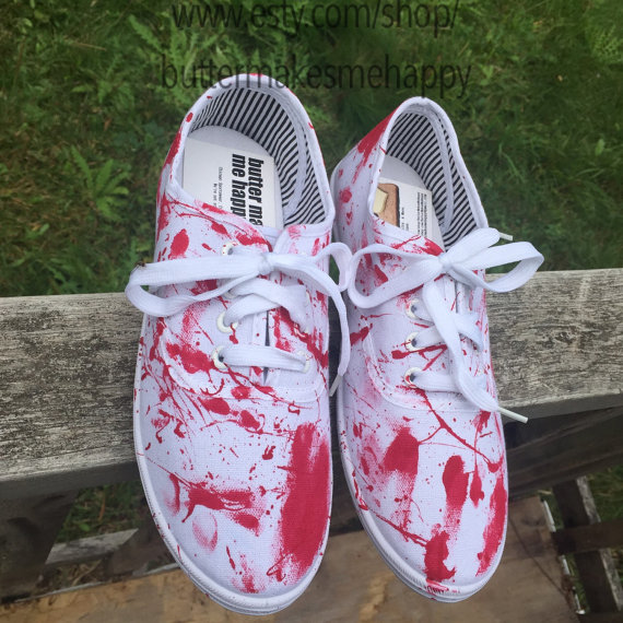 fd09fa3128f957 Blood splatter shoes. Bloody shoes. Blood by ButterMakesMeHappy ...