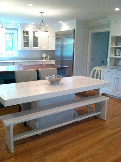 Harvest table / 7 foot Tuscan style dining table / by ModernRust