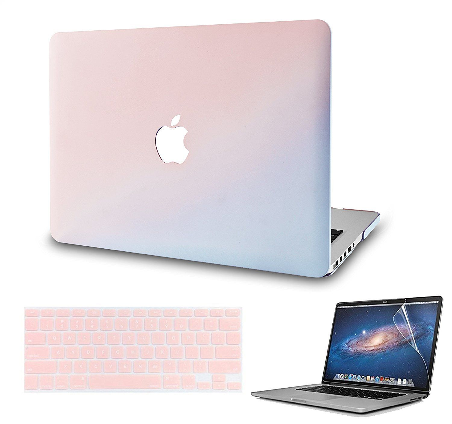 Macbook Case with US/CA Keyboard Cover' and Screen Protector Package